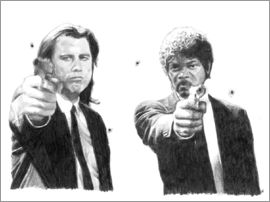 Cultscenes - PULP FICTION alternative movie art