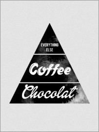 Nory Glory Prints - Pyramid Food graphic coffee chocolat logo parody