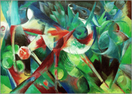 Franz Marc - Deer in the Flower Garden
