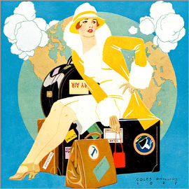Clarence Coles Phillips - Reisen Lady - Life-Magazin 1927