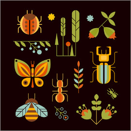 Retro Insects