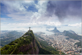 Alex Robinson - Rio de Janeiro landscape showing Corcovado, the Christ and the Sugar Loaf, UNESCO World Heritage Sit
