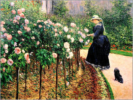 Gustave Caillebotte - Roses in the garden