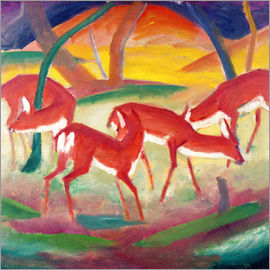 Franz Marc - Red deer I.