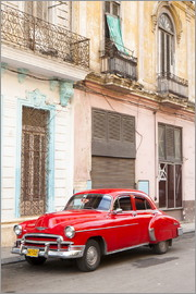 Lee Frost - Roter Oldtimer in Havanna