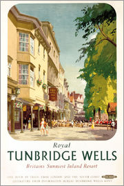 Frank Sherwin - Royal Tunbridge Wells, poster advertising British Railways
