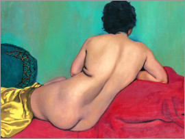 Felix Edouard Vallotton - Back act on a red couch
