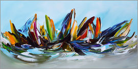 Theheartofart Gena - Sailing abstract