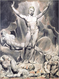 William Blake - satan weckt den Rebellenengel