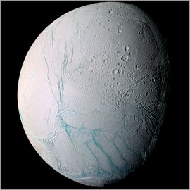 Stocktrek Images - Saturnmond Enceladus