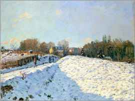 Alfred Sisley - Schnee in Argenteuil
