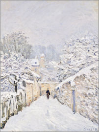 Alfred Sisley - Schnee in Louveciennes