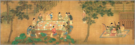 Chinese School - Scholars' Gathering in a Bamboo Garden