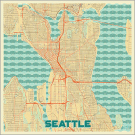 Hubert Roguski - Seattle Map Retro