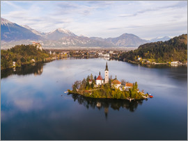 Matteo Colombo - See Bled und Insel im Herbst, Slowenien