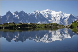 Lake with Mont Blanc massif
