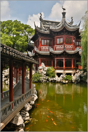 Darrell Gulin - Shanghai, China Yu Garden and oriental styled buildings.