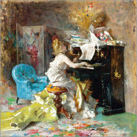 Giovanni Boldini - SIGNORA AL PIANOFORTE (WOMAN AT A PIANO)