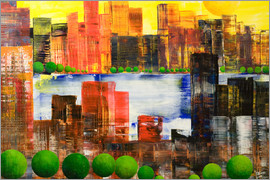 Gerhard Kraus - Skyline City, abstrakt