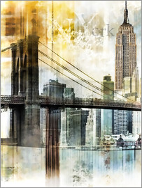 Städtecollagen - Skyline New York Abstrakt Fraktal
