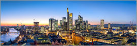 Jan Christopher Becke - Skyline Panorama von Frankfurt am Main