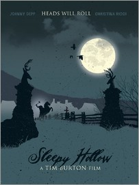 Golden Planet Prints - Sleepy hollow heads will roll movie inspired illustration