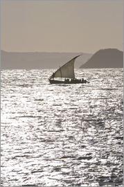 Michael Runkel - Small sailing boat at sunset near Diego Suarez (Antsiranana), Madagascar, Indian Ocean, Africa