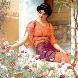 John William Godward - Sommerblumen