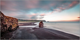 Sascha Kilmer - Summer Night at the Black Lava Beach on Iceland