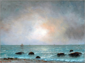 Gustave Courbet - Sonnenaufgang am Meer