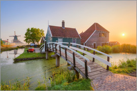 Michael Valjak - Sonnenaufgang in Zaanse Schans in Holland
