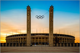 Photovojac - Olympic Stadium Berlin during the sunset