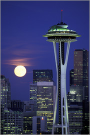 William Sutton - Space Needle bei Vollmond