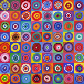 David Newton - Square Circle 64 nach Kandinsky