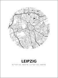 44spaces - City map of Leipzig