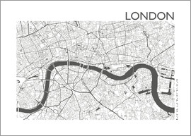 44spaces - Stadtplan von London