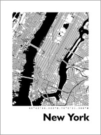 44spaces - Stadtplan von New York