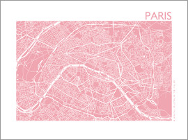 44spaces - Stadtplan von Paris