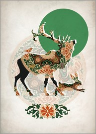 Mandy Reinmuth - stag, bird and hare