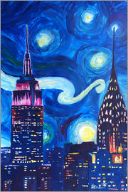 M. Bleichner - Sternennacht in New York - Van Gogh Inspirationen in Manhattan