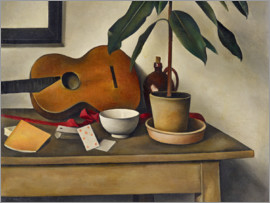 Alexander Kanoldt - Still life with a guitar