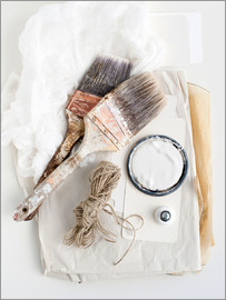Image Source - Still life of decorating brushes and string