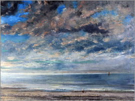 Gustave Courbet - Strand bei Sonnenuntergang