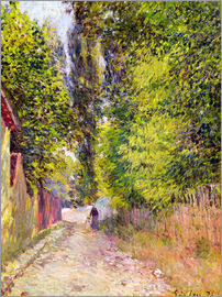 Alfred Sisley - Straße bei Louveciennes
