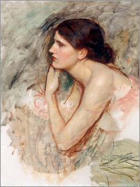 John William Waterhouse - Studie zu die Zauberin