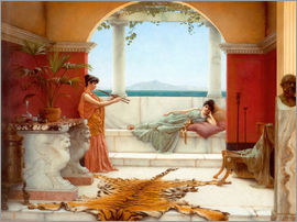 John William Godward - Süsse Pause eines Sommertages