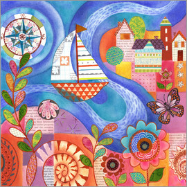 Janet Broxon - Summer Harbor
