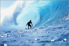 Vince Cavataio - Surfer in der Pipeline Barrel