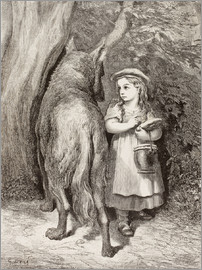 Gustave Doré - Scene From Little Red Riding Hood By Charles Perrault