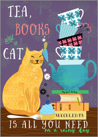 Elisandra Sevenstar - tea, books and a cat